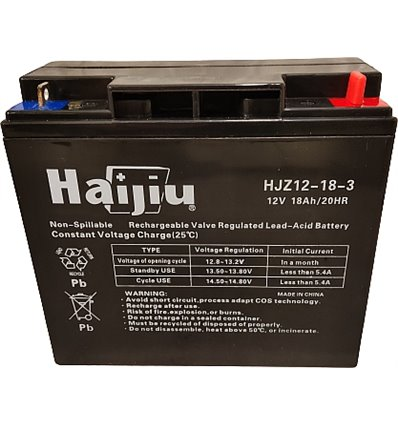 Batteri 12V, 18Ah Stiga Villa, Park, Estate, Garden m.fl. 118120007/0 - 1