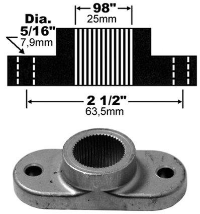 Knivfäste MTD spline 1 tum (25,4mm) - 1