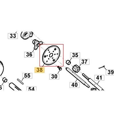 STIGA Friktionshjul ST4262P, ST5262P, ST5266PB, 118820635/0 - 1