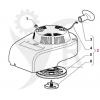 STIGA Startapparat SA45, OM55, RM55, SA55 m.fl. 118550276/1 - 5