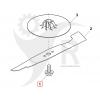 STIGA Knivbult Combi 36AE, 40AE m.fl 381004352/1 - 2