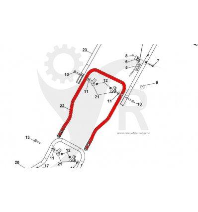 STIGA Styre mellandel Multiclip 47AE 381007585/0 - 1