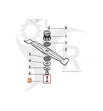 STIGA Knivbult 3/8 UNF Turbo PRO 55S mf.l 112736850/0 - 1